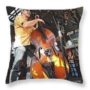 Rockabilly Bass Throw Pillow