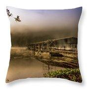 Rockaway Beach Dock 1 Throw Pillow