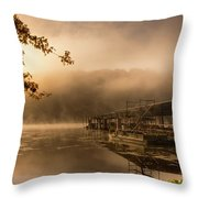 Rockaway Beach Dock 2 Throw Pillow