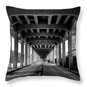 Rockaway Freeway, Queens New York Throw Pillow