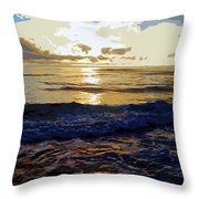 Rockaway Sunset #3 Enhanced #2 Throw Pillow