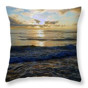 Rockaway Sunset #3 Enhanced Throw Pillow by Ben Upham III