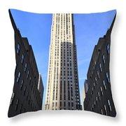 Rockefeller Center New York City Throw Pillow