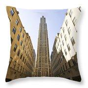 Rockefeller Centre Throw Pillow