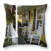 Rockers On The Porch Throw Pillow