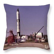 Rocket Garden Throw Pillow