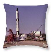 Rocket Garden Throw Pillow