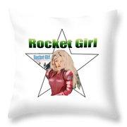 Rocket Girl Throw Pillow