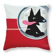 Rocket Dog Throw Pillow