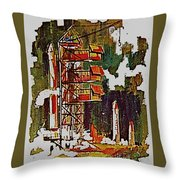 Rockets To Mars Throw Pillow