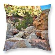Rockfall Throw Pillow