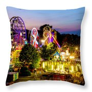 Rockford Carnival Throw Pillow