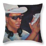 Zydeco Man Throw Pillow