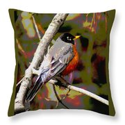 Rockin' Robin Throw Pillow
