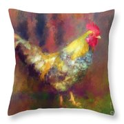 Rockin' Rooster Throw Pillow