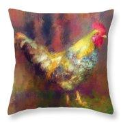Rockin' Rooster Throw Pillow