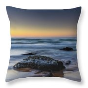 Rockin The Sunrise Seascape Throw Pillow