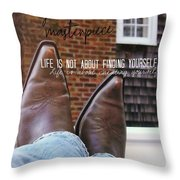Rocking Kicks Quote Throw Pillow