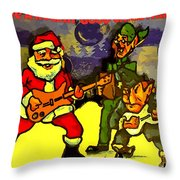 Rocking Roll Christmas Card Throw Pillow