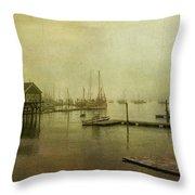 Rockland Harbor Throw Pillow