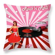 Rock'n Roll The Sweet Fifties Throw Pillow