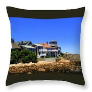 Rockport Buildings Throw Pillow