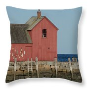 Rockport Harbor  Throw Pillow