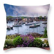 Rockport In Bloom Throw Pillow