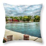 Rockport Inner Harbor Throw Pillow