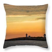 Rockport Lighthouse Throw Pillow