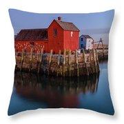 Rockport Ma Fishing Shack - #1 Throw Pillow
