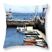 Rockport Ma Inner Harbor Throw Pillow