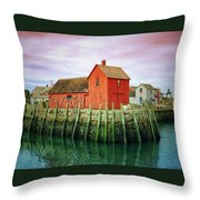 Rockport, Motif No. 1, Fishing Shack Throw Pillow