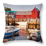 Rockport Motif Throw Pillow