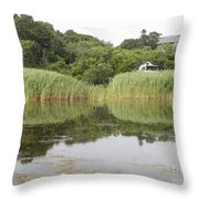 Rockport Reeds And Reflections Throw Pillow
