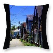 Rockport Street Throw Pillow