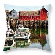 Rockport Sunrise Throw Pillow