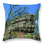 Rocks Along The Roadway Throw Pillow
