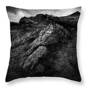 Rocks And Ben More Throw Pillow