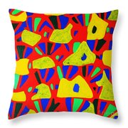 Rocks And Flowers Throw Pillow