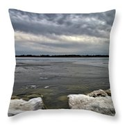 Rocks And Ice 2  Throw Pillow