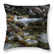 Rocks And Little Water Throw Pillow