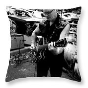 Rocks And Rolls Throw Pillow