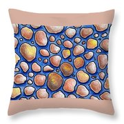 Rocks And Water Abstract Throw Pillow
