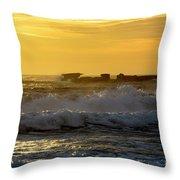Rocks At Palm Beach At Sunrise Throw Pillow