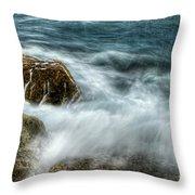 Rocks Awash Throw Pillow