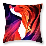 Rocks Dressed In Color Throw Pillow