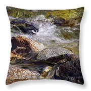 Rocks In A Stream 2a Throw Pillow