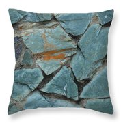 Rocks In A Wall Throw Pillow
