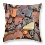Rocks Of Lake Superior 12 Throw Pillow